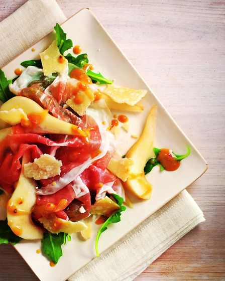 Rocket With proscuitto, pears and parmesan. Picture: PA Photo/Francesco Tonelli.