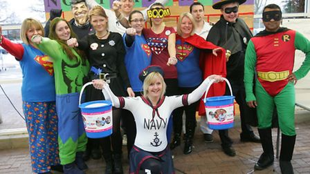 Tesco staff in costume raising money for Cancer research