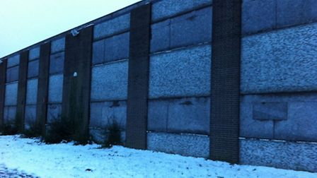The warehouse where Petras Miernykas was found on Saturday