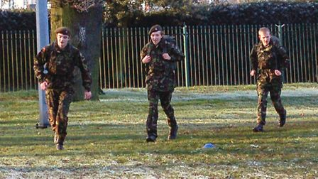The students running for Help for Heroes