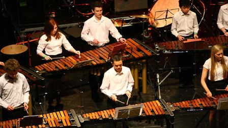 Percussionists from the Havering Music Centre group at the O2 Gateway2Music event