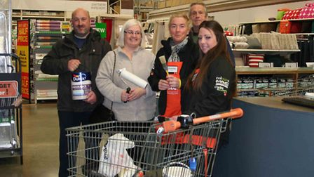 Volunteers helped to give a community space a face lift. The items were donated by B&Q in Gallows Co