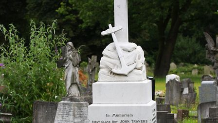 The grave of Boy 'Jack' Cornwell, at 16 one of the youngest ever recipients of the Victoria Cross