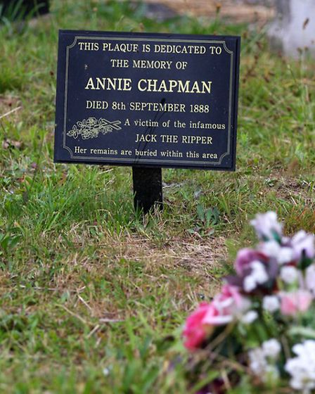 A memorial to Annie Chapman, a victim of Jack the Ripper