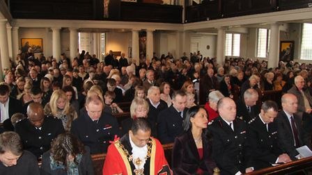 Packed memorial service at St John's, Bethnal Green