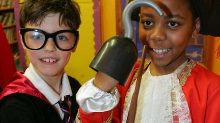 Harry Potter takes on Captain Hook for World book day