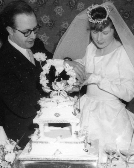 Gordon and Jean Ayres on their wedding day in 1963