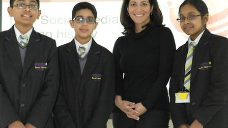 Mishal Husain and pupils who she told homework and being prepared were vital