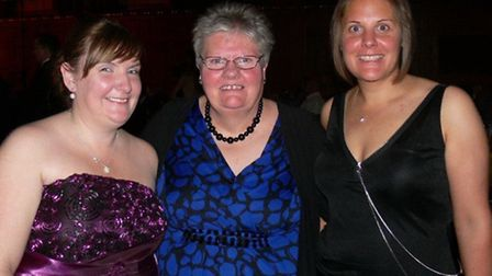Christine Milbank with her daughters Sarah Adams and Hayley Blackman.