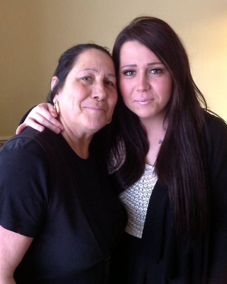 Elaine Prior with her daughter Tanya