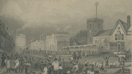 Romford Market in 1831 - the year a man sold his wife there. PIC: Courtesy of Havering Library