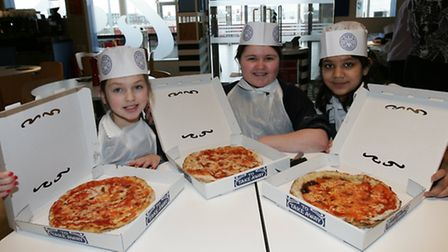 Crowlands Primary School pupils at Pizza Express