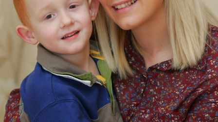 Kerry Burchell with her son Alfie