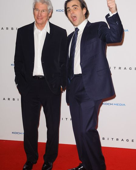 Richard Gere and director Nicholas Jarecki arriving at the UK Premiere of Arbitrage, at the Odeon We