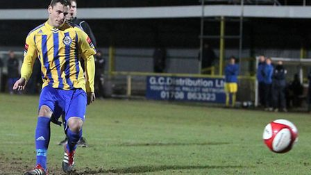 James Ishmail netted his first goal for Romford in their win at Waltham Abbey (Gavin Ellis/TGSPHOTO)