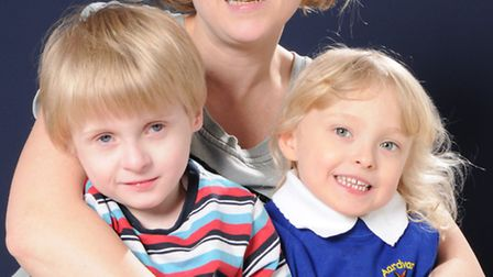 Sarah Ashcroft with her children Sam and Sophie