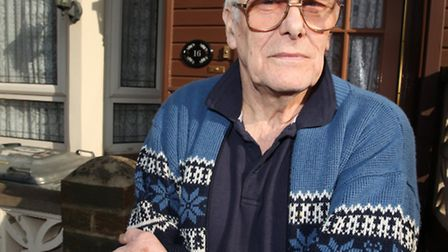 Pensioner Anthony Vickery, of Holt Road, is upset as the Crossrail work is causing disturbing vibra
