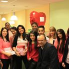 Staff at the East Ham Specsavers were pretty in pink to raise money for a cancer charity
