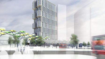 The high rise building planned for Stratford old town centre
