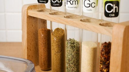 Scientific Spice Rack, £19.99 from www.firebox.com. Picture: PA Photo/Handout.