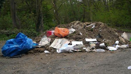 fly tipping in picturesque Hutton Village last April.