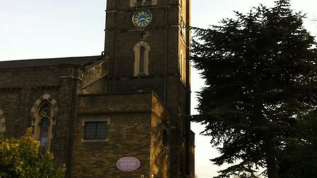 Police detained the man in the churchyard of St. Mary the Virgin in Ilford.