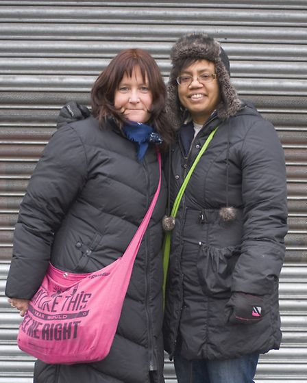 Laura Glendinning and Alicia Francis who set up Forest Gate Women's Institute