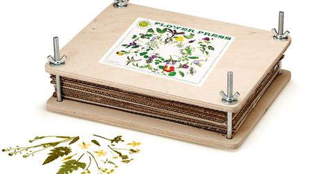 Nether Wall's flower press, £29.95, www.netherwalloptrading.com. Picture: PA Photo/Handout.