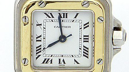 Watch 1: A Cartier Santos like the one that was stolen