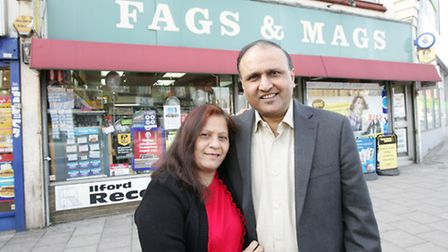 Newsagent Fags and Mags has been running for 25 years. Owners Ashwin Vajir and wife Lisa