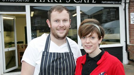 Young business owner David Hart with sister Louise