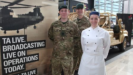 Sergeant Kevin O'Gorman, from Kentish Town, LCpl Rob Hutton from Surbiton and LCpl Caryn Davis, who