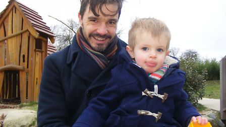 Anthony Withstandley, 42, with his son Hugo, aged 2.