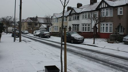 Chadwell Heath in a blanket of snow. Picture: Sophie Willison