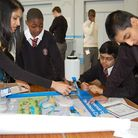 Students from two Newham schools showed off their building skills at the Thames Water Network Challe