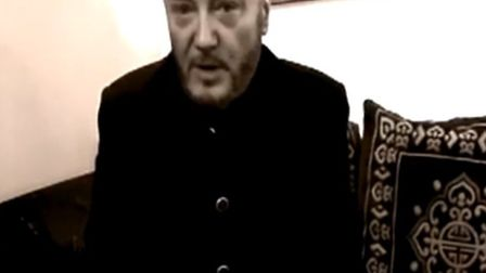 George Galloway speaking in the YouTube video about the public meeting.