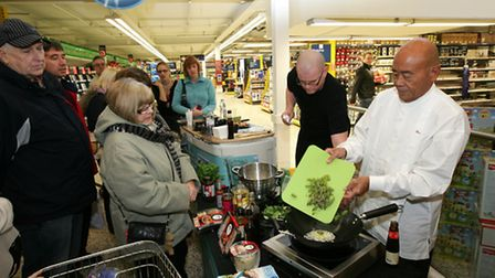 Celebrity chef Ken Hom is kicking off Chinese New Year celebrations at the Tesco Extra, in Hornchurc