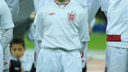 Payton Brown on the pitch with the England team.