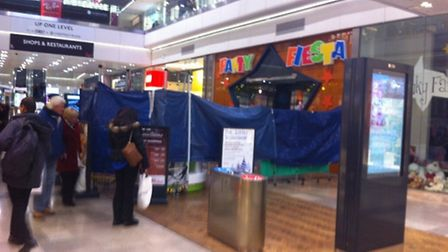 Part of Westfield was cordoned off but the shopping centre remained open. Picture: Sara Odeen-Isbist