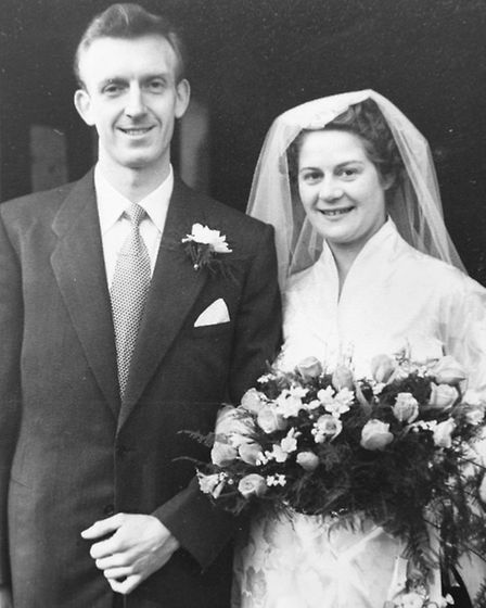 Yvonne and Norman Terrell were married on Valentine's Day 1953