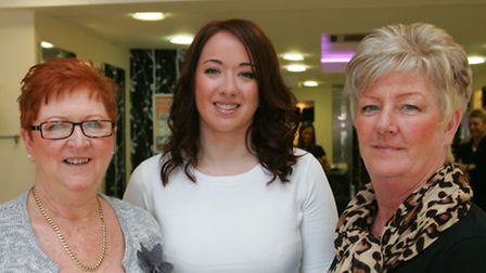 Hilda Tisbury, Dawn D'arcy and Philomena Fallon after their makeovers