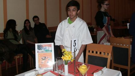 Krishan Mistry at the Rotary Young Chef competition.