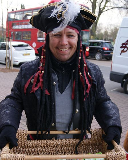 Staff from Tate and Lyle Sugars in East London dressed as pirates at the Upminster Richard House cha