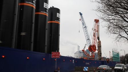 Crossrail's tunneling work at Albert Road, North Woolwich. Picture: Isabel Infantes