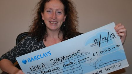 Nora Simmonds is the latest winner of the St Francis Hospice Lottery