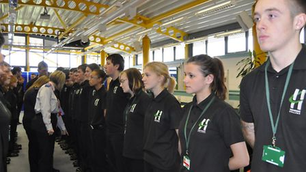 Public services BTEC students at Havering College are inspected by former students now working in th
