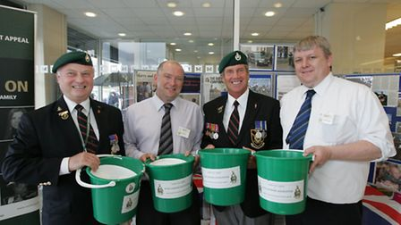 A group from the Royal Marines' Association at a collection in Dagenham