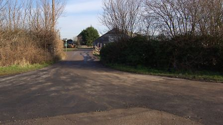 The entrance to bridle way 93 from Oaks Lane after Redbridge Council repaired the roadway with tarm