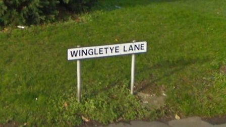 Wingletye Lane is around a mile long. Picture courtesy of Google Maps.