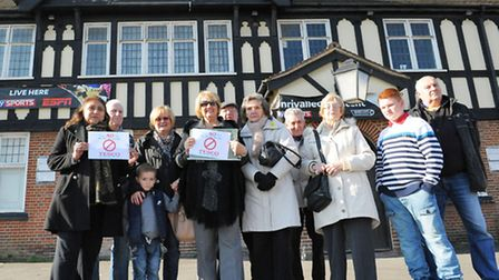Local residents and shop owners have signed a petition against The Marlborough Pub, Romford becoming